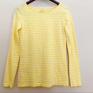 J crew Yellow Stripes Longsleeves Top  Size XS
